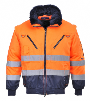 Portwest hi-vis 3 in 1 pilot jacket PJ50